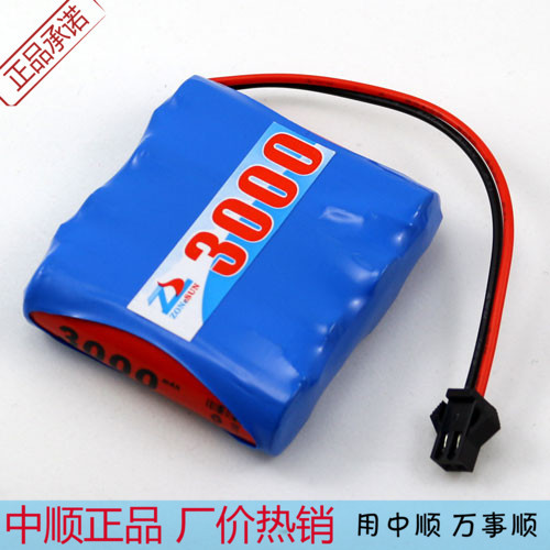 Shun 3000mAh 4.8V NiMH battery pack receiver battery remote control toys battery with SM plug(China (Mainland))