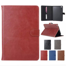 Magnet Flip PU Leather Case for iPad Mini 4 Funda Smart Case Cover with Card Holder Stand Case for Apple iPad mini 4 Accessories(Hong Kong)