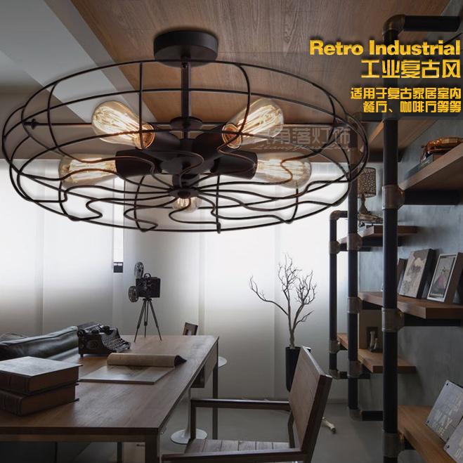 Aliexpress.com: comprar hierro americano retro lámpara de techo ...