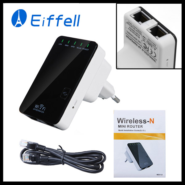 Wireless-N Router AP Repeater Booster WIFI Amplifier LAN Client Bridge IEEE 802.11 b/g/n 300Mbps EU Plug Adapter Free Shipping(China (Mainland))