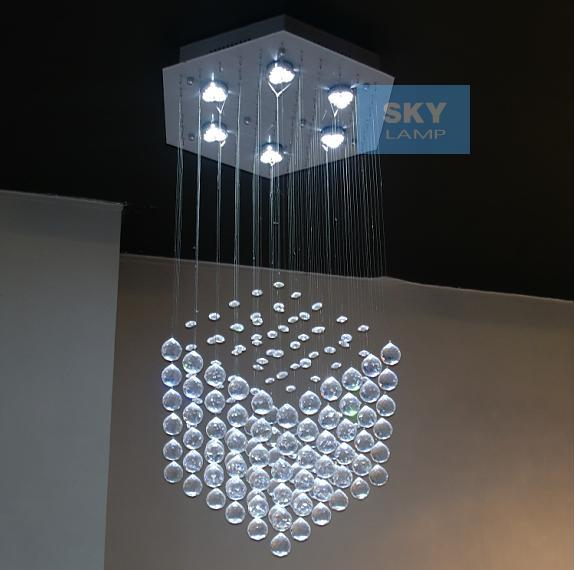 Modern crystal lamp living room crystal pendant lamp crystal lamp k9 crystal pendant light hexagon style(China (Mainland))