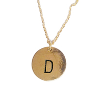 2015 Initial necklace personalized Discs Charm Custom Letter friendship Jewelry Gift gold silver 26 letters Round
