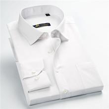 new arrival 2017 high quality classic twill business men's shirts long sleeve turndown collar plus size 5xl dress shirt(China (Mainland))