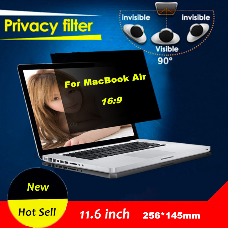 2016 Hot Sell 11.6 inch Monitor 16:9 HD Protective Film Voor Laptop Computer Privacy Filter Film For MacBook Air 256*145mm(China (Mainland))