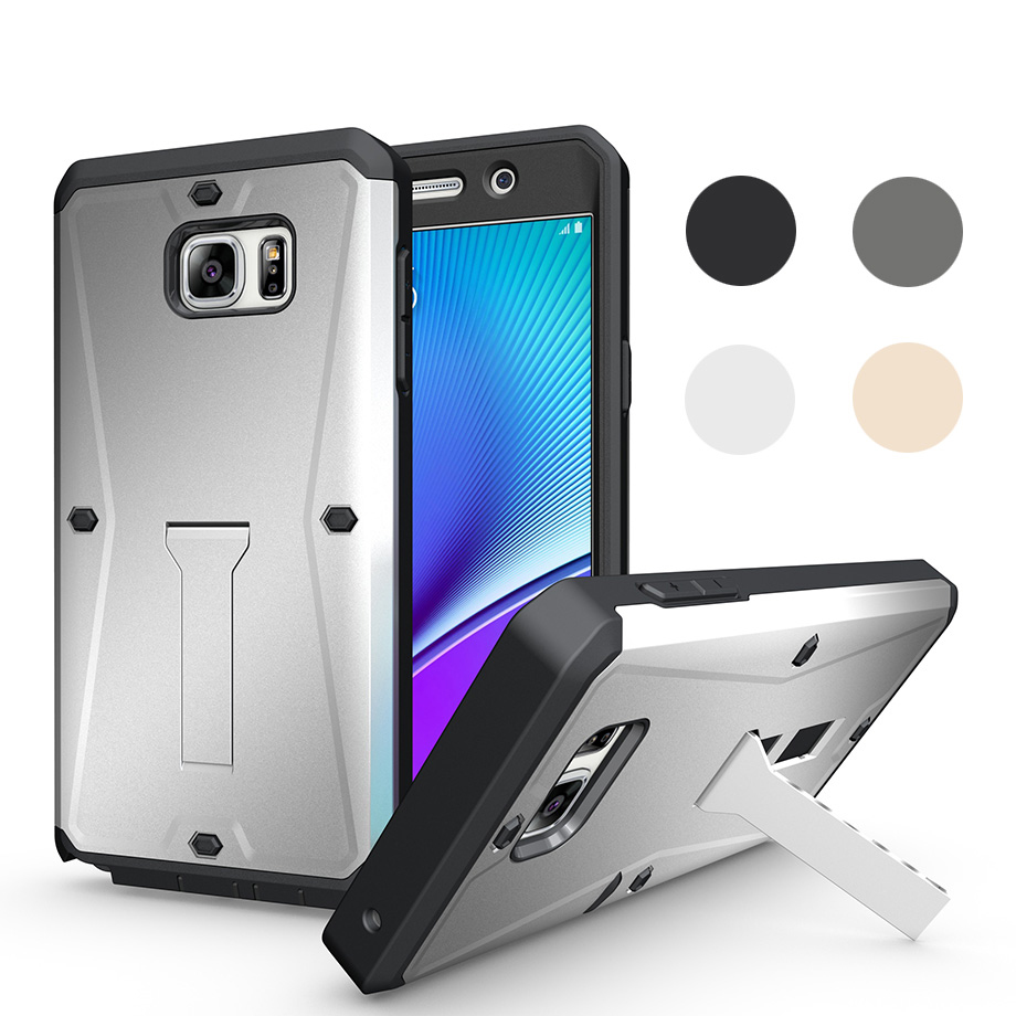 Luxury Holder Tank Case Shockproof Waterproof Silicone TPU+PC Protection Case for Samsung Note5 cover coque fundas capinha(China (Mainland))
