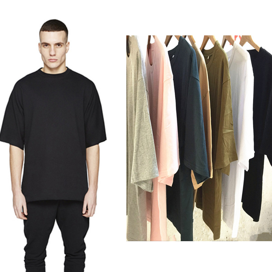 wholesale price oversized t shirt homme kanye west clothes. Black Bedroom Furniture Sets. Home Design Ideas