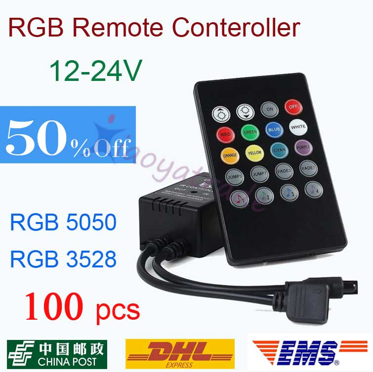 100X 20 Key Music Voice Sensor Controller Sound Activated IR Remote Control Practical Home Party RGB LED Strip dhl free shipping(China (Mainland))