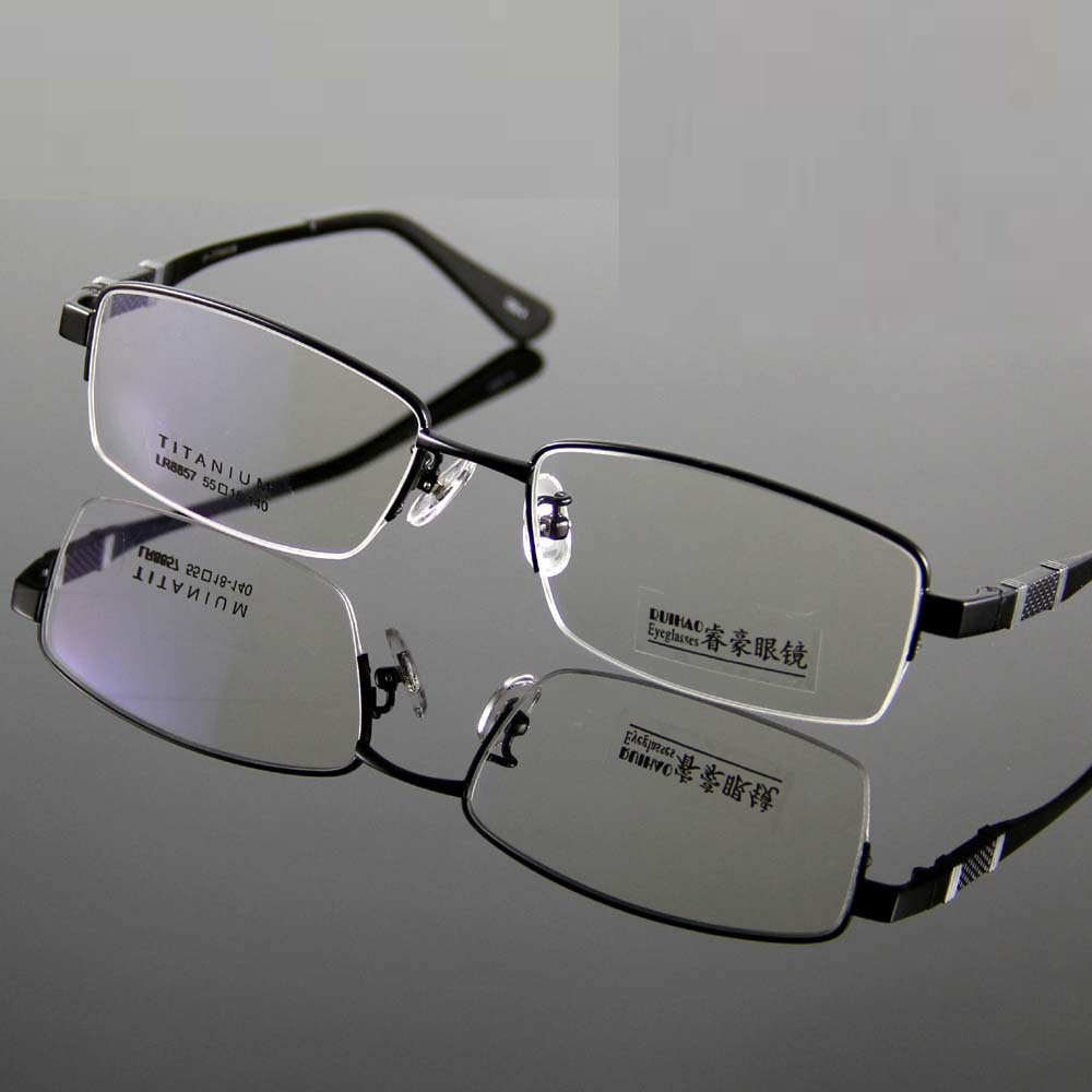 3 Color Fashion Men Glasses 100% Titanium Eyeglasses Frame ...