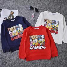 2016 Fashion Girls Boys Cartoon Autumn Sweatshirts for 1-6 Years Baby Children Clothes Cotton Long Sleeve Casual Fleece Hoodies(China (Mainland))