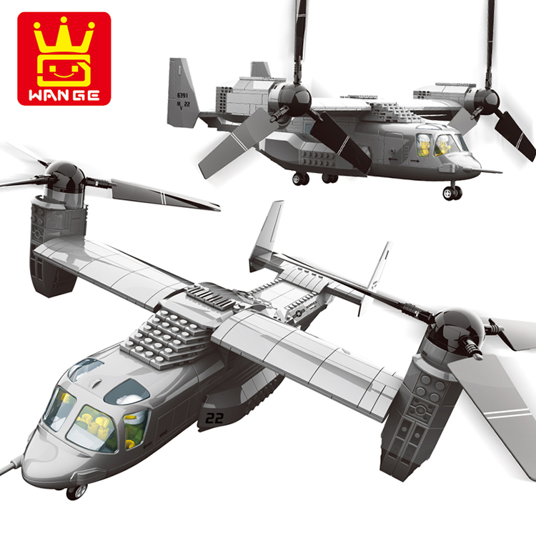 1/44 Air Force 1 American V-22 Osprey tiltrotor aircraft medium transport aircraft minifigure blocks set Compatible with Legoe(China (Mainland))