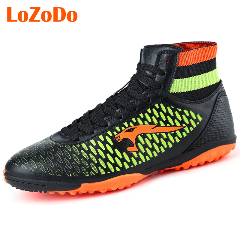 Plus Size 33-45 Adults Boy Men Football Boot Shoes Outdoor High Top Football Cleat Soccer Shoes Sports Trainer Sneakers Shoes(China (Mainland))