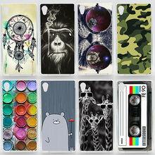 Case For Sony Xperia M4 Aqua Dual E2303 E2333 E2353 Transparent Coloured Drawing Phone Cover For Sony M4 Plastic Hard Phone Case