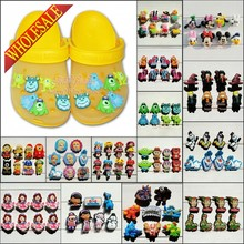 Hot 6-8PCS Minions Lalaloopsy Elsa Doc McStuffins PVC Shoe Charms,Shoe Buckles Accessories Fit Bands Bracelets Croc JIBZ,Gifts(China (Mainland))