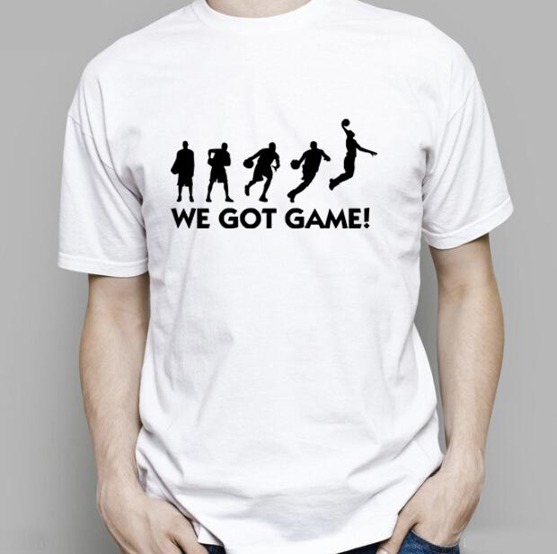 Basketball printed tshirt men sports team t shirts fashion for Custom team t shirts