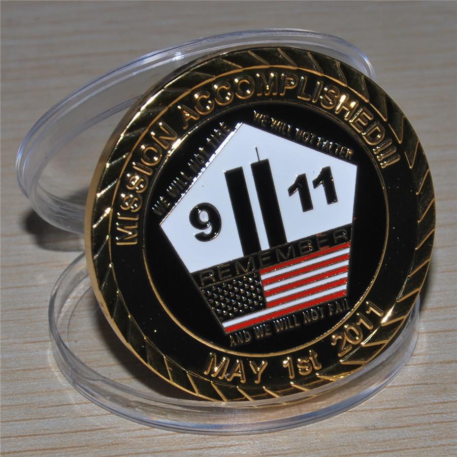 US Navy Seal Team VI Osama Bin Laden Challenge Coin,100pcs/lot DHL Free shipping(China (Mainland))