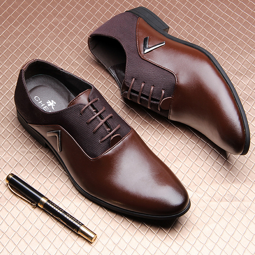 New men's real cowhide leather oxford shoes comfortable insole lacing business dress shoes man wedding high quality shoes M7887(China (Mainland))