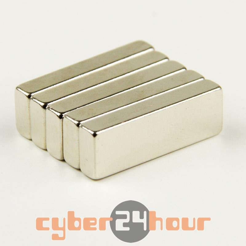 Гаджет  Lot 5 x Big Super Strong Cuboid Block Magnet Rare Earth Neodymium 30 x 10 x 5 mm N35 None Строительство и Недвижимость