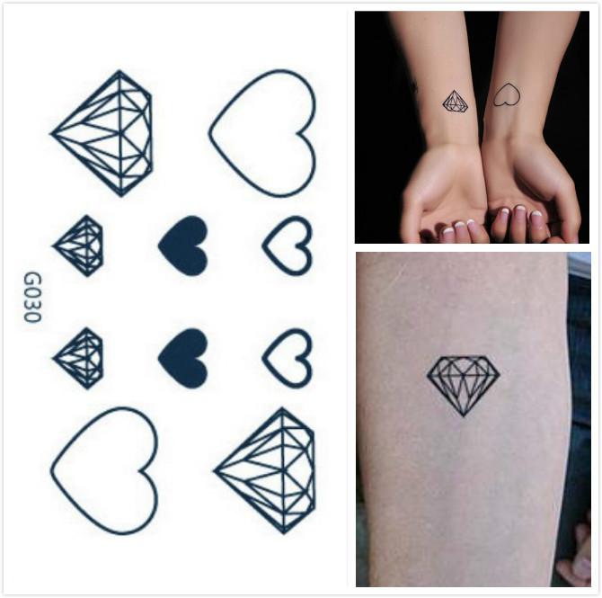 achetez en gros tatouage coeur de diamant en ligne des grossistes tatouage coeur de diamant. Black Bedroom Furniture Sets. Home Design Ideas