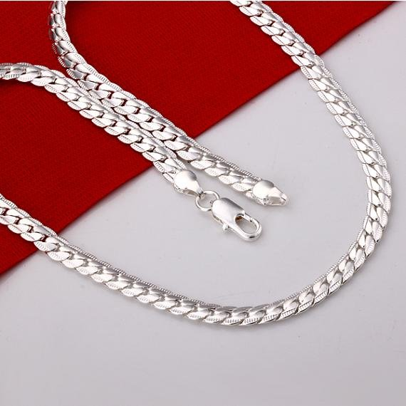 Necklace New 925 sterling silver men s jewelry necklace 925 silver necklace Free shipping Wholesale LKN280