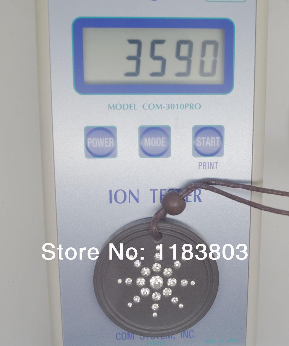 Free shipping 20pcs/lot japanese quantum scalar lava negative ions energy pendant white cz stones energy pendant negative ion(China (Mainland))