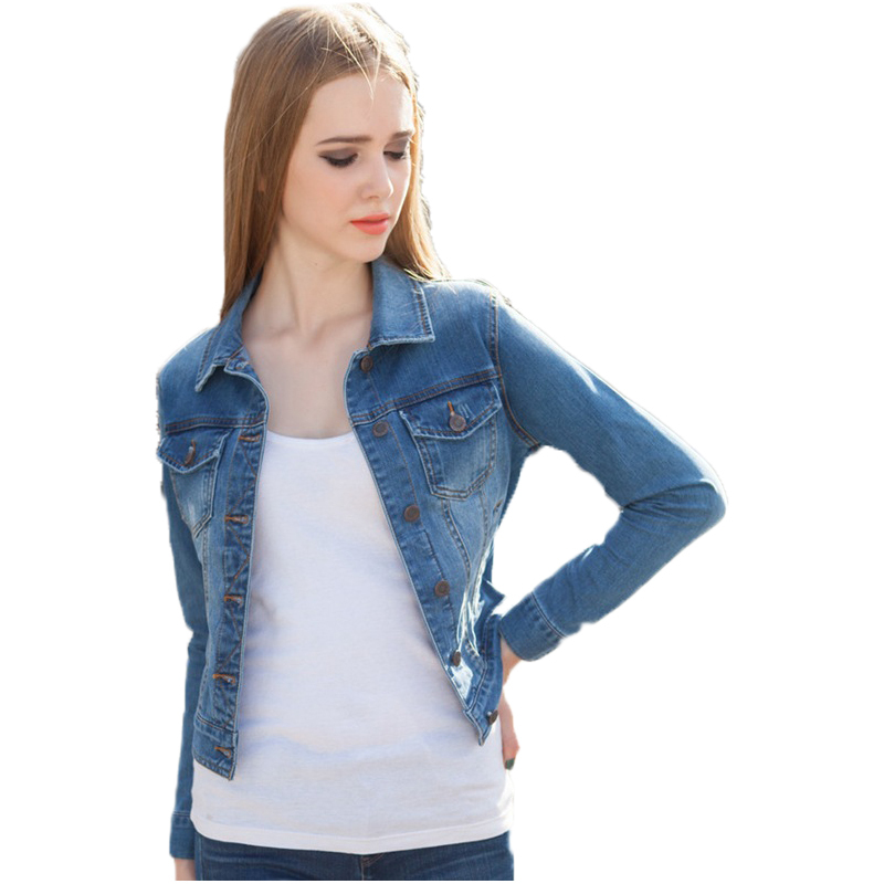 Stretch Denim Jacket Womens - JacketIn