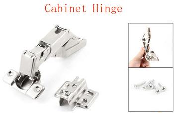 "Stainless Steel 175 Degree Angle Full Overlay Cabinet Hinge 5.3"" Long 2pcs"
