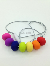New- Chewable, Nursing, Breastfeeding, Teething necklaces beads Baby wearing Chew Necklace - 100% Non Toxic BPA Free silicone(China (Mainland))