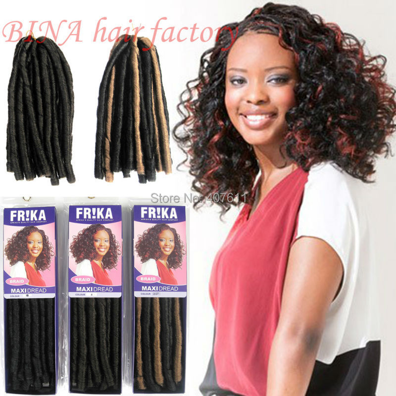 Max dread tresses synthétique bouclés extension de cheveux kanekalon souple dread tressé cheveux extension 3 embalagens