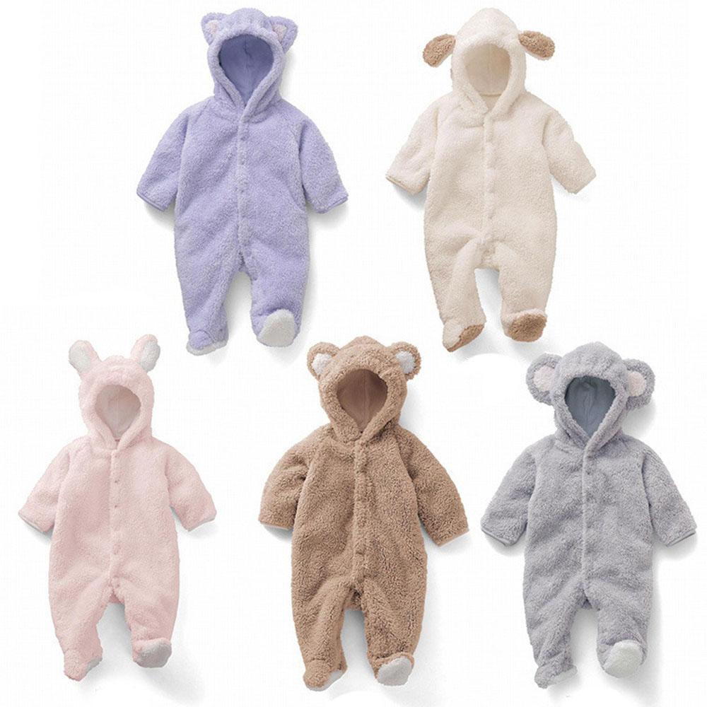 Newborn Infant Baby Romper Infant Girl Cute Rabbit Boy Baby Bear Romper Kids Jumpsuit Clothing Newborn Baby Winter Romper