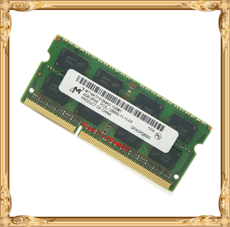Notebook memory For Micron MT DDR3 4GB 8GB 1600MHz 4G PC3-12800S 8G laptop RAM 1600 12800<br><br>Aliexpress
