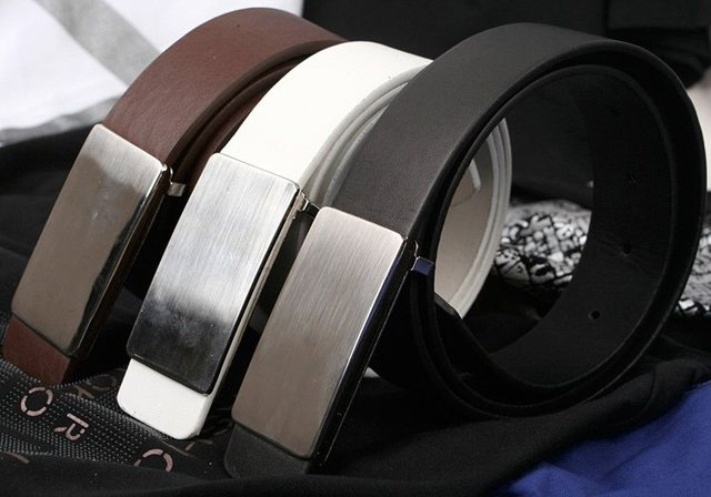 FREE SHIPPING! Retail and Wholesale! Classic fashion steel head leather Belt belts
