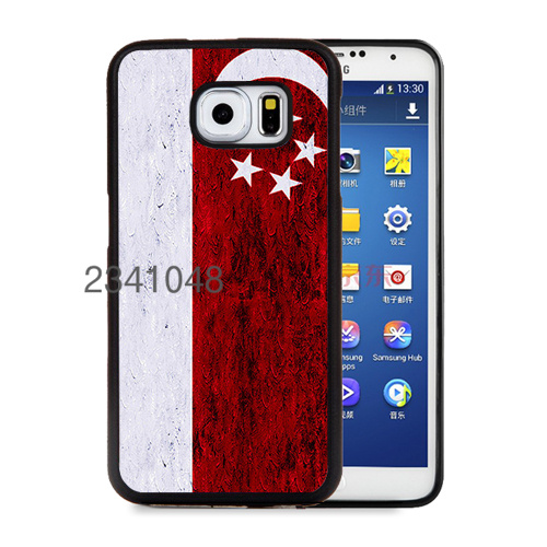 flag singapore soft edge cell phone cases for samsung s6 s6edge plus s7 s7edge cover case(China (Mainland))