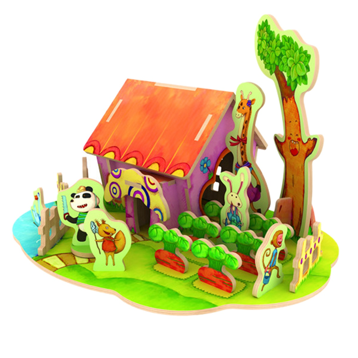 Robotime 4D Wood Jigsaw Puzzle DIY Model Forest Cabin(China (Mainland))