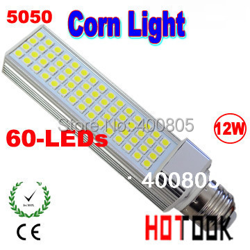 Promotion price LED Corn Light 12w 5050 SMD E14 G24 E27 LED lamp Bulb Lighting 220V 60 leds smd led lights corns CE ROHS(China (Mainland))