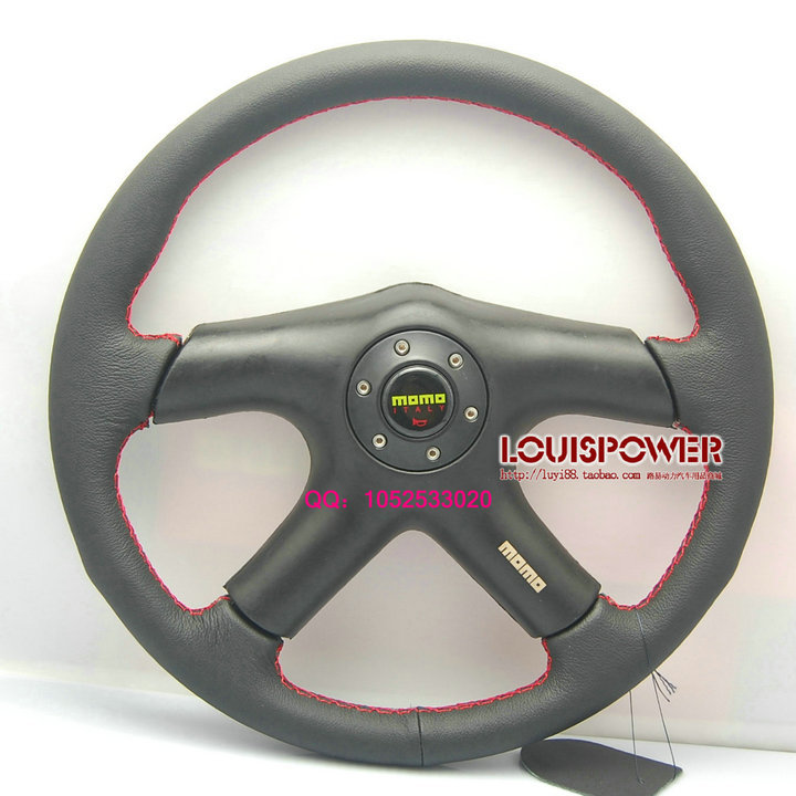 Free shipping 2014 new MOMO steering wheel modified four bracket / racing wheel / car leather steering wheel(China (Mainland))