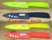 """5 """"Legumes Fruta faca de cerâmica com Bainha + frete grátis(China (Mainland))"""