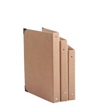 A4 B5 A5 Folder, Hole Rings Kraft Folder. Kraft Notebook Cover, no paper(China (Mainland))
