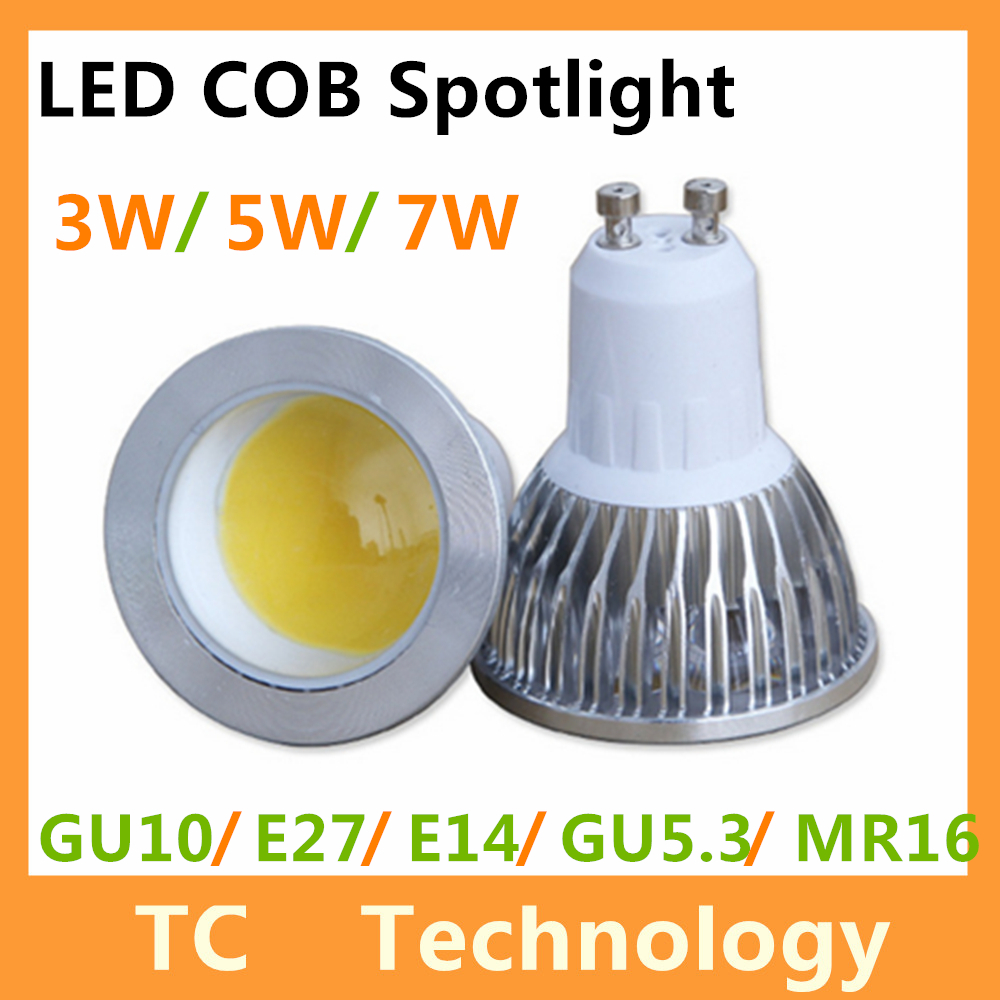 Cree COB Bombillas LED Lamp GU10 MR16 Lampada LED Bulb E27 220V Lamparas Spotlight 5W 7W GU5.3 Spot light GU 10 Luz Ampoule(China (Mainland))