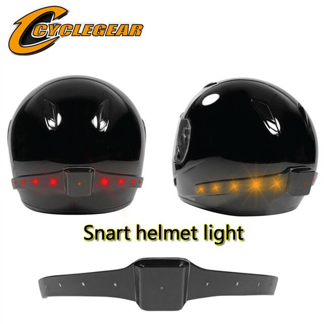 2016 Wireless Motorcycle Smart helmet light Helmet LED Safety Light Running Lights Brake Turn Signal Indicators - SMT Gear store