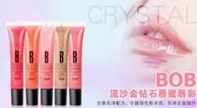 New arrival Free Shipping Make-up Diamond Sand Bob Lip Gloss Luster Nourishing Moisturizing Lipstick Fruit Flavor Multicolor(China (Mainland))