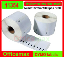 100x RollsDymo Compatible Labels 11354, 57mm x 32mm, 1000 labels per roll(Dymo 11354)