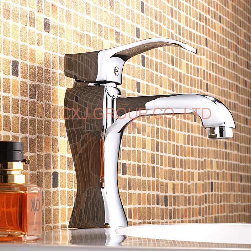 FREE SHIPPING Solid Brass Chrome Bathroom Faucet Basin Mixer Single Hole Sink Mixer Bathroom Sink Faucet torneira para banheiro