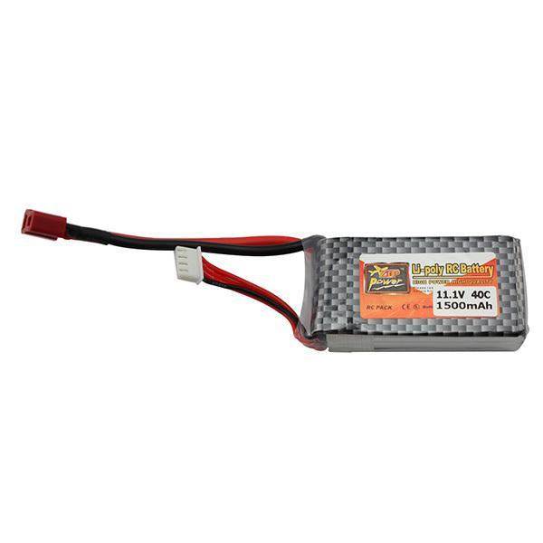 Zop Power Lithium Polymer Lipo Battery 11.1V 1500Mah 3S 40C MAX 60C T Plug for RC Car Airplane Helicopter Drone Part(China (Mainland))