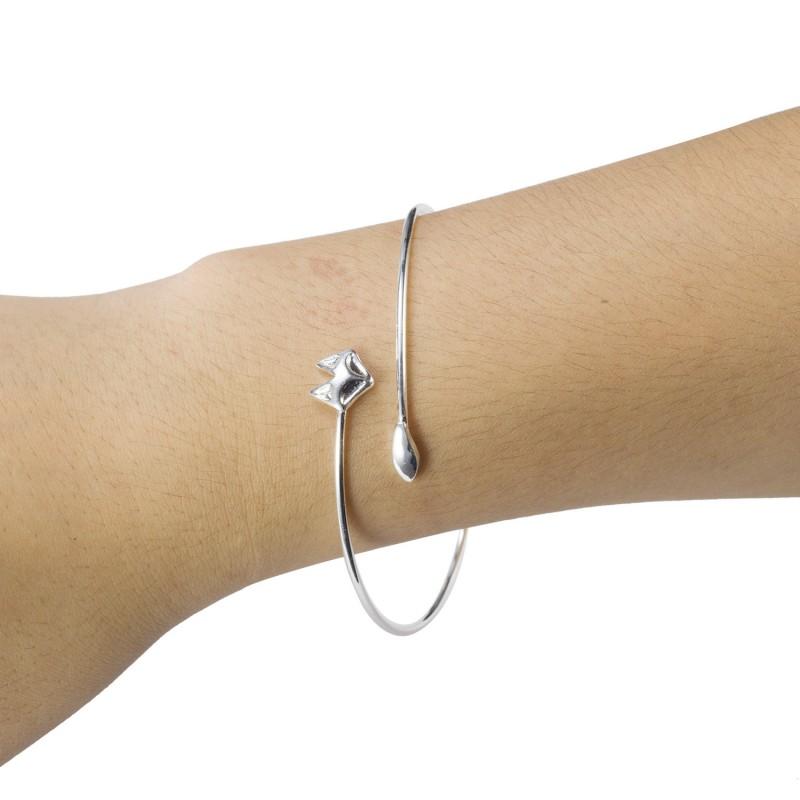 מין סדר 1pc זהב וכסף לעטוף פוקס צמידים צמיד שושבינה תכשיטים G014