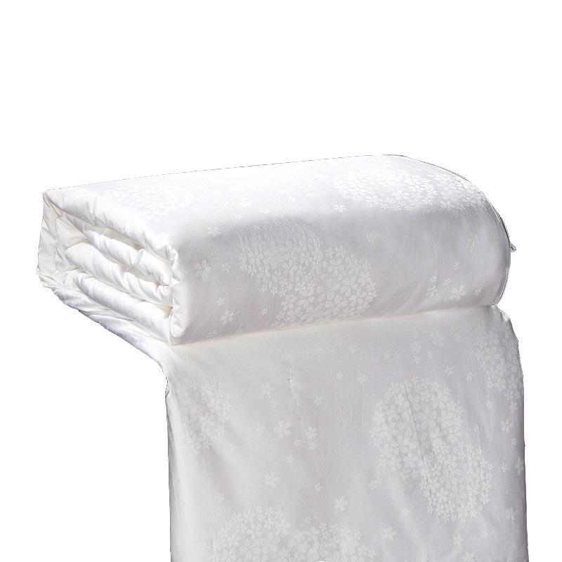 Fill 750g 100% Mulberry Silk Summer Quilt Alternative Doona/Comforter pass SGS Inspection King Queen Bedding Filler in White(China (Mainland))