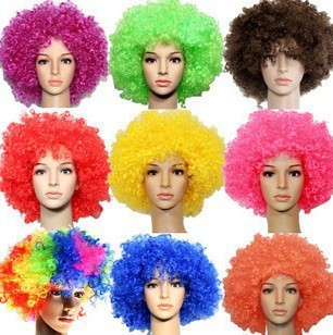 Children's day wig on Halloween Color explosion head Hair color fans The clown wig(China (Mainland))
