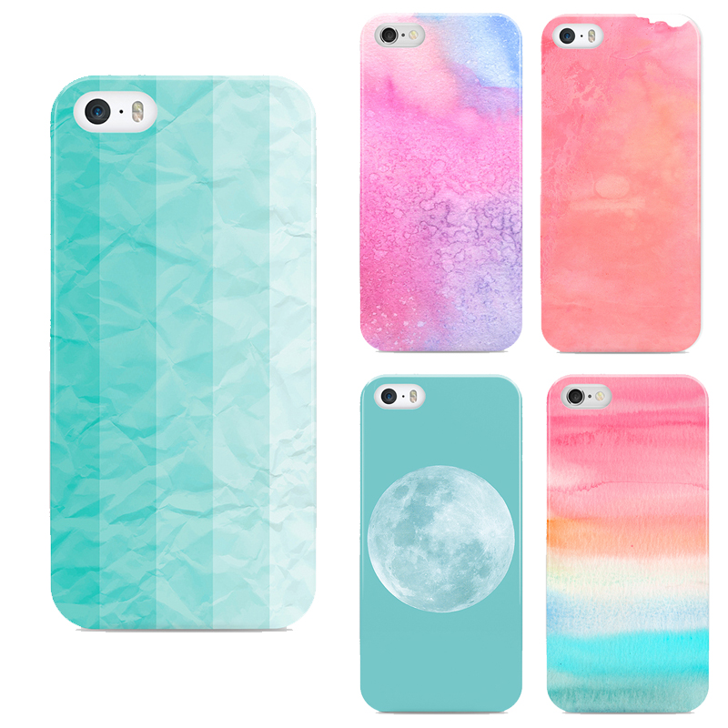 Colorful Cloud phone cover for iphone 6 Blue Background Moon phone shell for Apple phone 6s cases(China (Mainland))