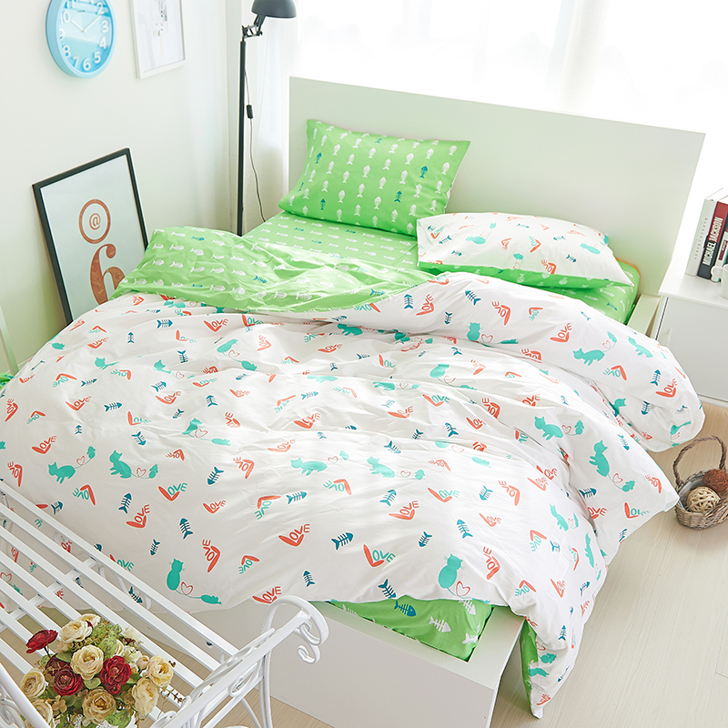 new arrival fashion bedding set adult/kids/girl's cartoon style bed product 4pcs queen/twin size quilt/duvet cover,flat sheet(China (Mainland))