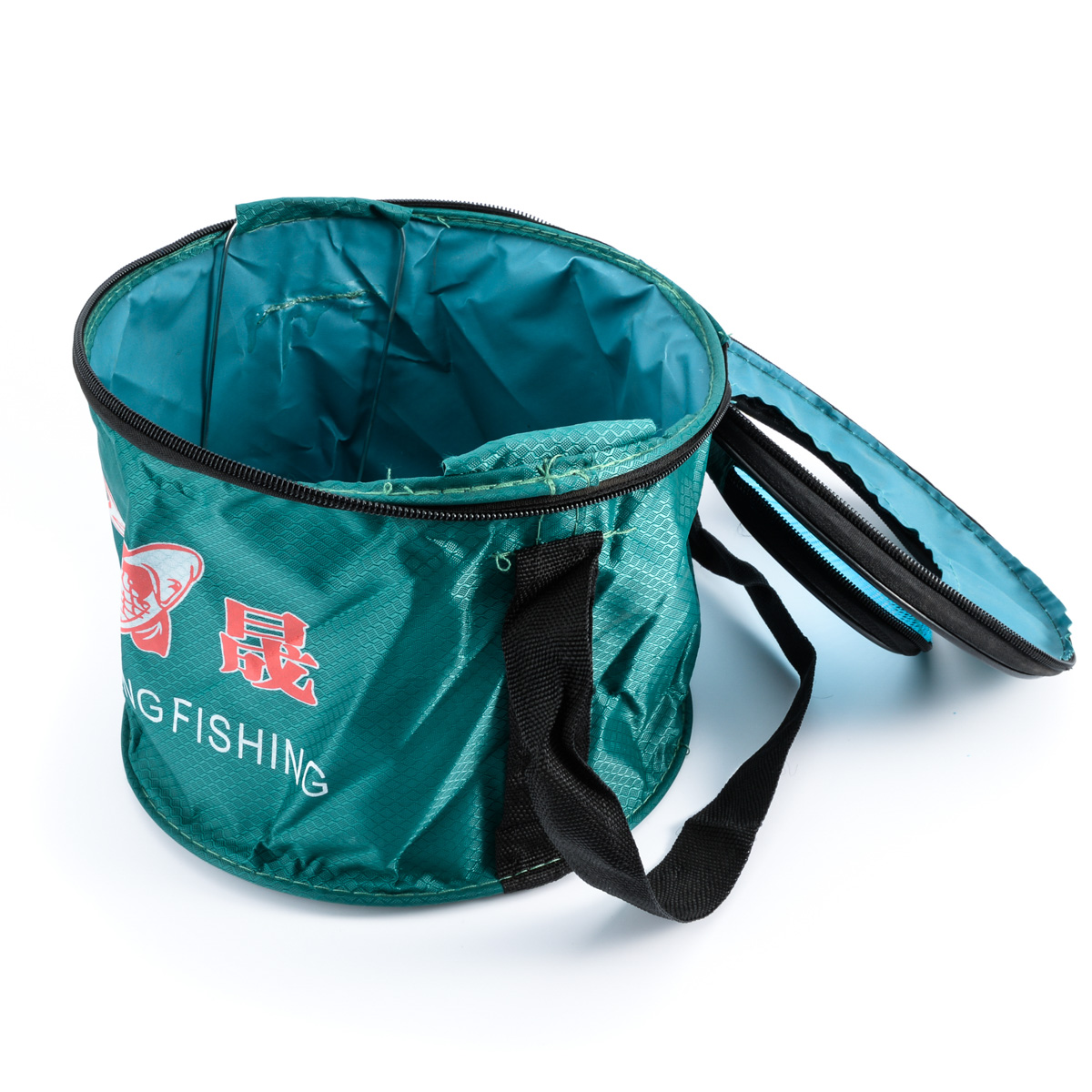 Canvas Folding Bucket Portable Fishing Tackle Fish Water Storage Outdoor Fishing Tool YC156-SZ+(China (Mainland))