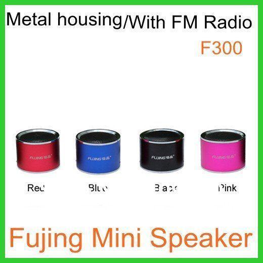 Mini Portalbe MP3 Speaker Micro SD TF Card USB Disk with FM Radio F300 Free Shipping Dropshipping(China (Mainland))